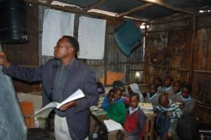 Teacher Erick at Childrock Initative
